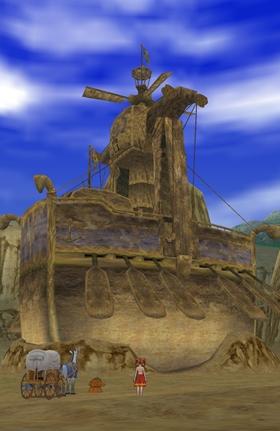 砂漠の魔法船