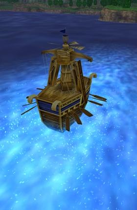 現実の海へ着水