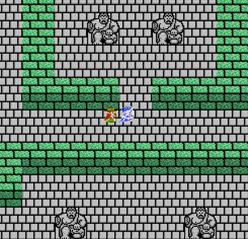 動く石像が並ぶ広間