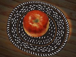 かごの中に残るリンゴ