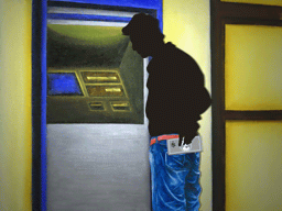 ATMから出勤