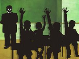 全生徒が挙手