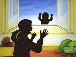 窓から落下する赤ん坊