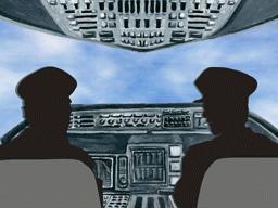 機長と副機長とが会話