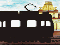 列車での移動