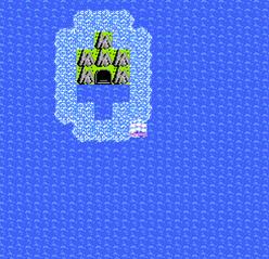 浅瀬に囲まれた海底の神殿