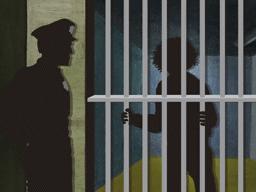 留置所拘留の男