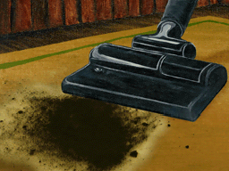 掃除機の実演
