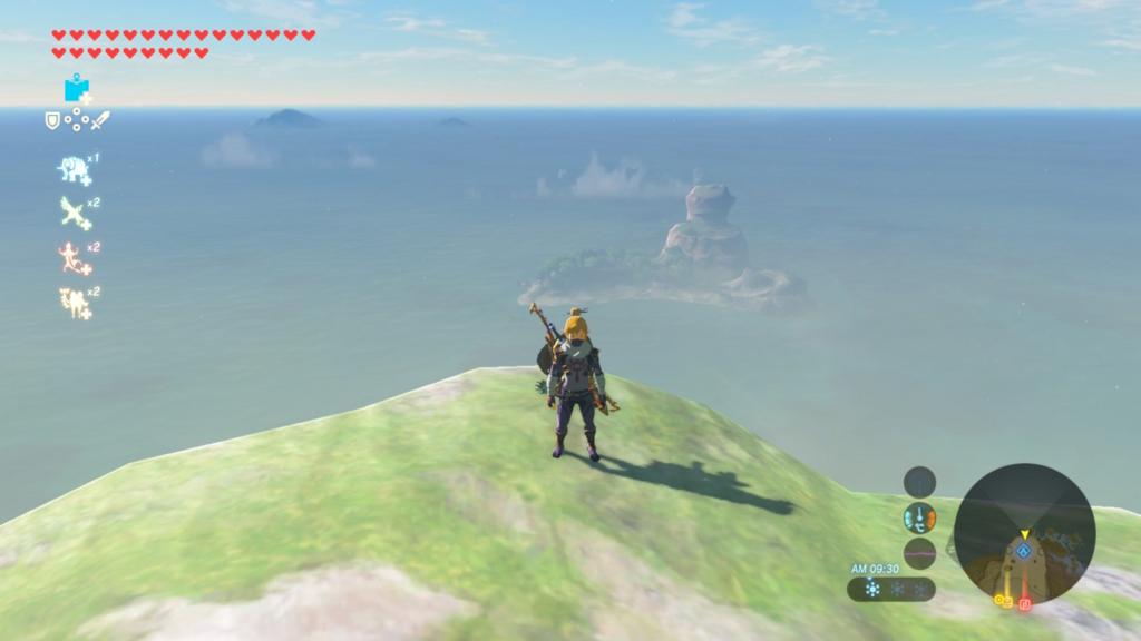遠くに見える島