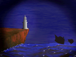 灯台の消灯で沈没した船