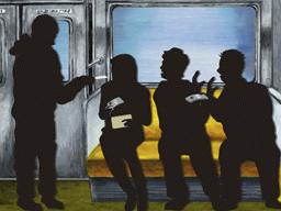 地下鉄で襲われるクズ