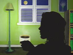 コーヒーを飲んで一休み