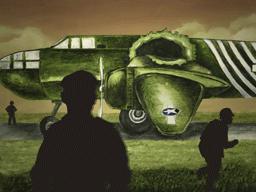 損傷した爆撃機