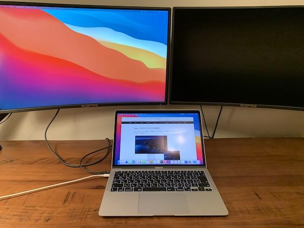 MacBook Airの拡張ディスプレイは1つのみ