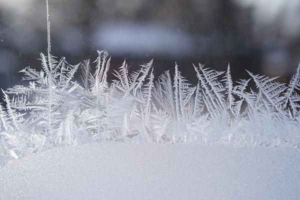 水蒸気が凍った結晶
