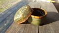 菓子鉢 クモの巣編み