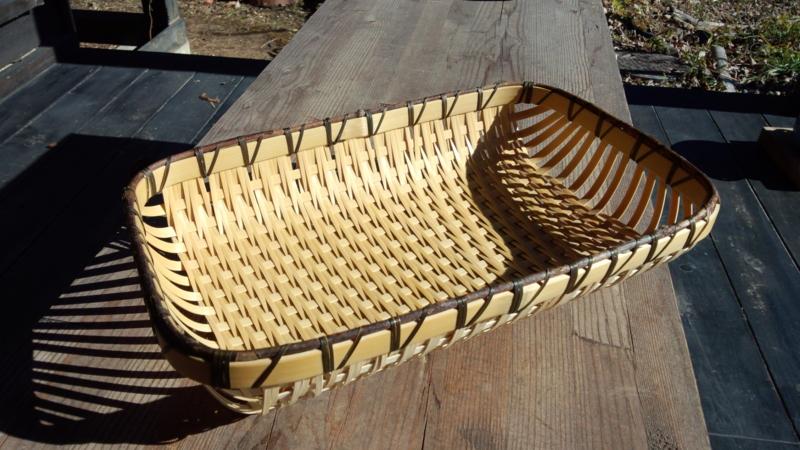 パン皿 ざる編み