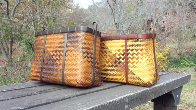 竹ショルダーバッグ 網代編み