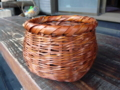 捻り編み花器(染め)