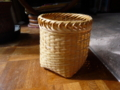 ござ編みゴミ箱