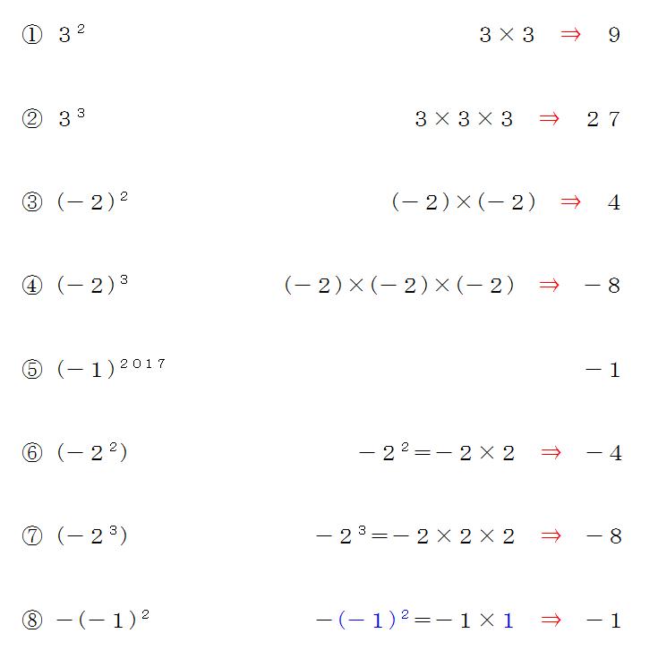累乗の計算問題かっこがついている問題は特に注意だ 中学