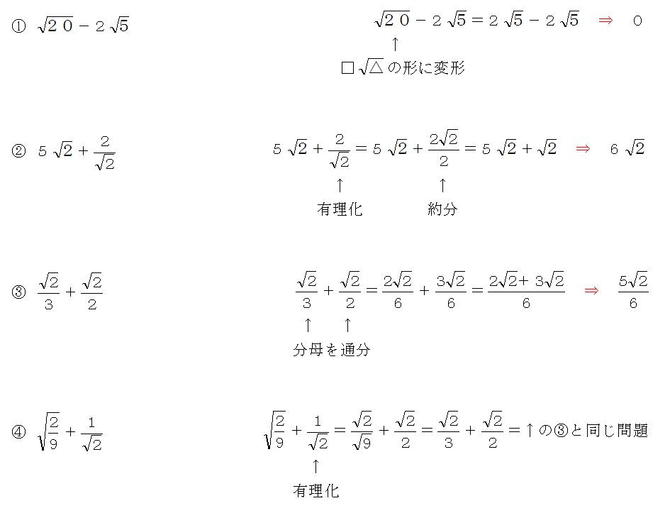 ルートの応用問題を変形して計算できるようにする