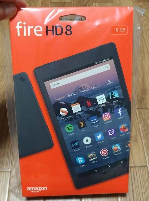 FireHD8のパッケージ