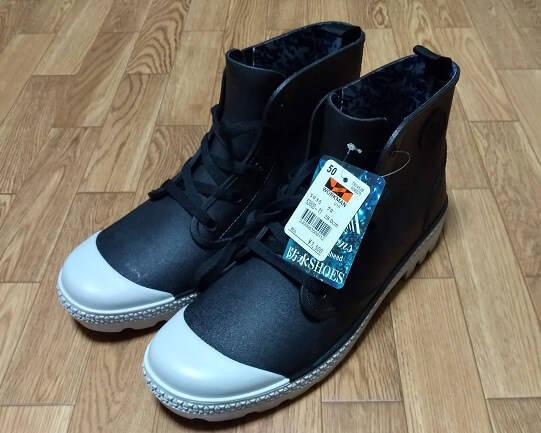 ワークマンプラスで購入した雨の日用の靴
