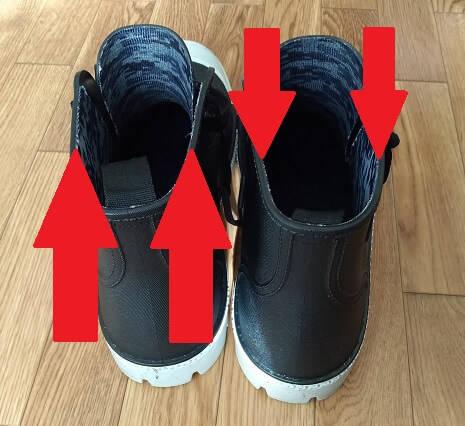ワークマンプラスの靴で靴擦れ