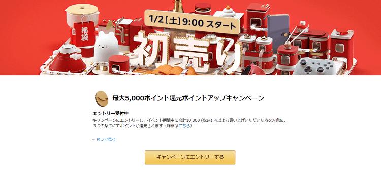 Amazonポイントアップキャンペーンページ