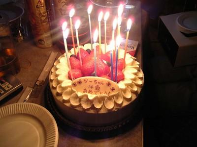 梨沙子生誕ケーキ