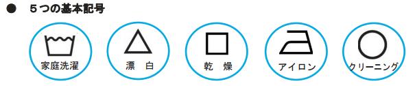 新洗濯記号基本五種