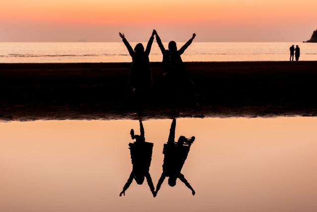 インスタグラムで大人気の父母ヶ浜の写真