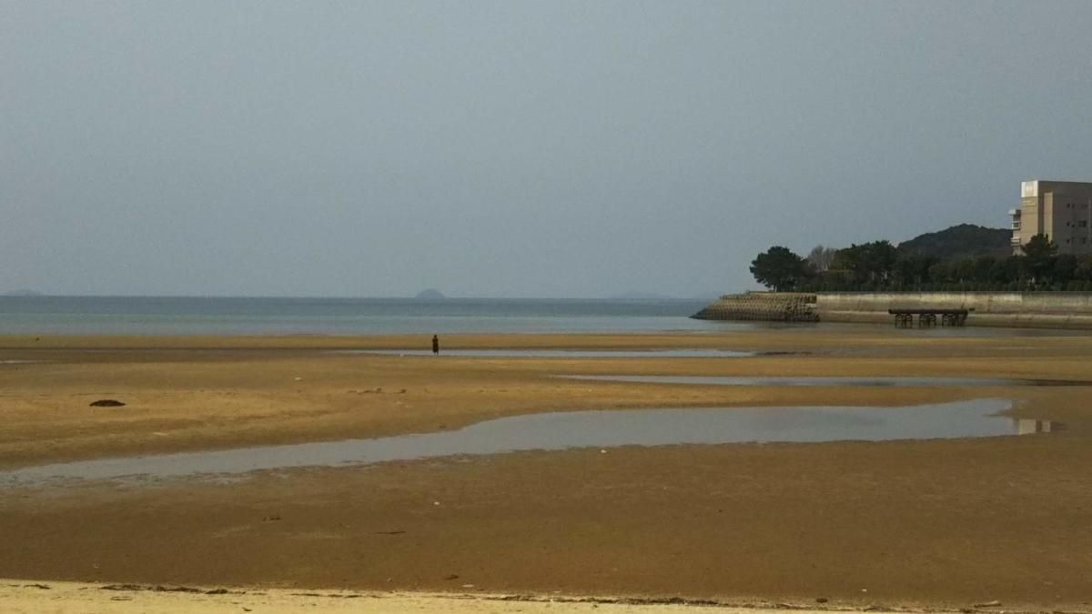父母ヶ浜の平日風景
