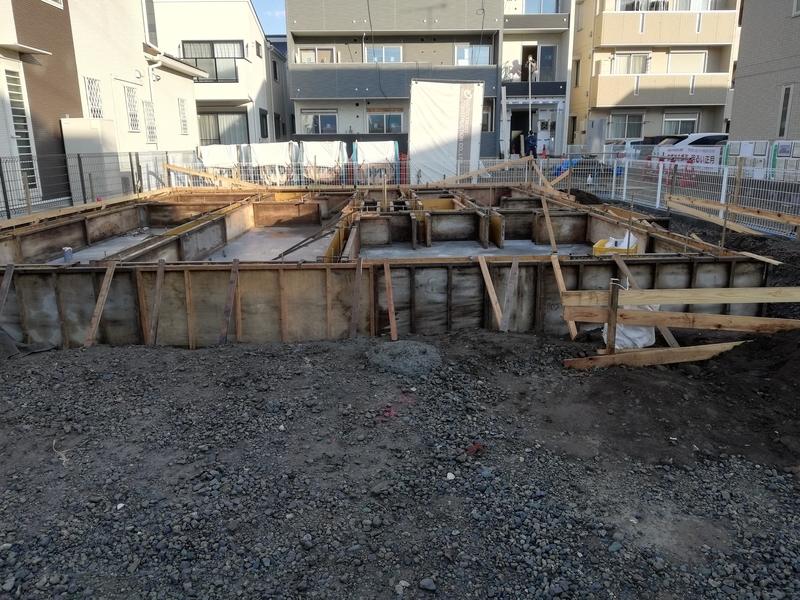 コンクリート打設 全体像