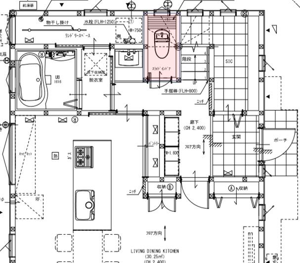 配置図1Fトイレ
