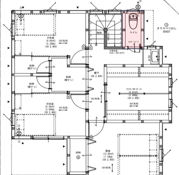 配置図 2階トイレ