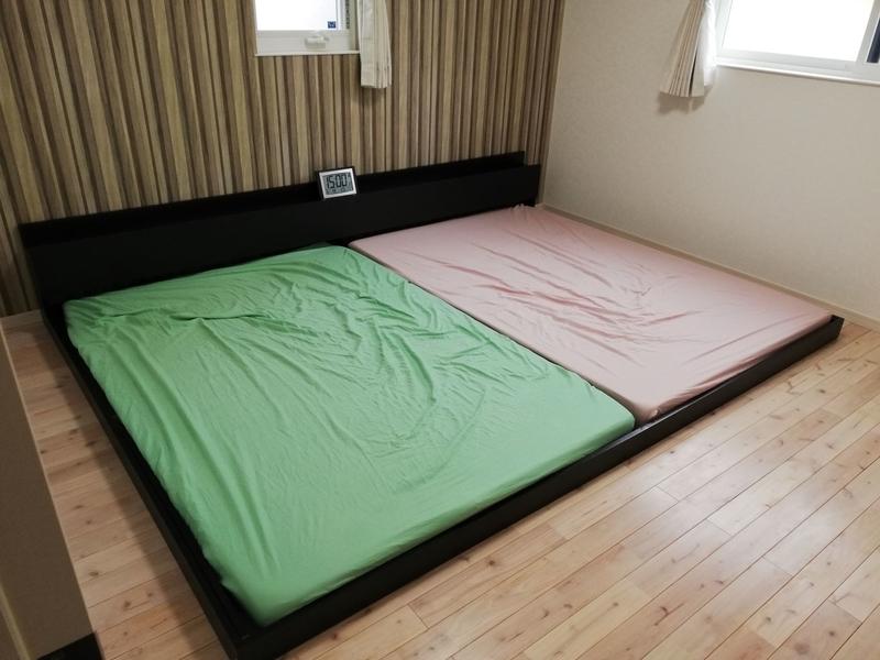 ダブル2つのベッド