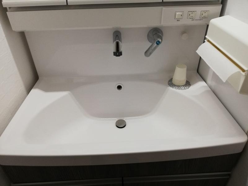 ハイバックの洗面台