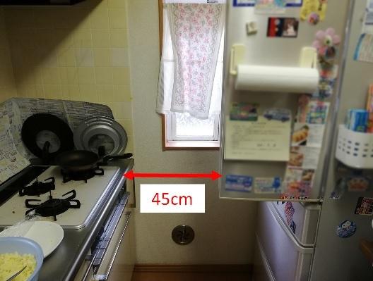 実家のキッチン ドア開け
