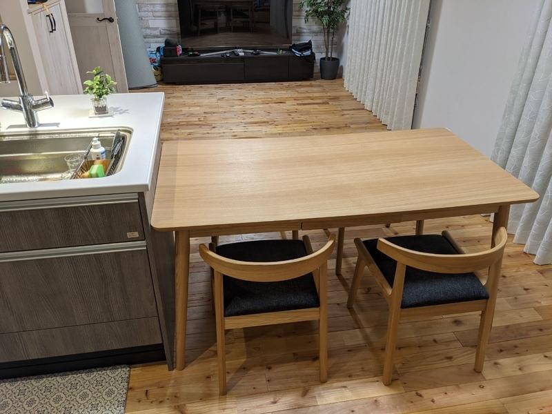 テーブル横向き