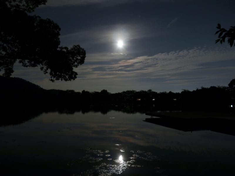 京都新聞写真コンテスト スーパームーンin大沢の池