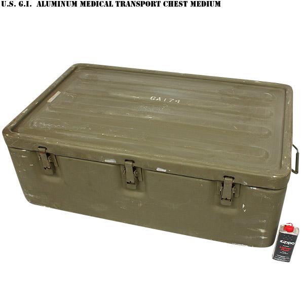 米軍ALUMINUM MEDICAL TRANSPORT チェスト Medium 価格:26,800円|タップで商品ページへ|