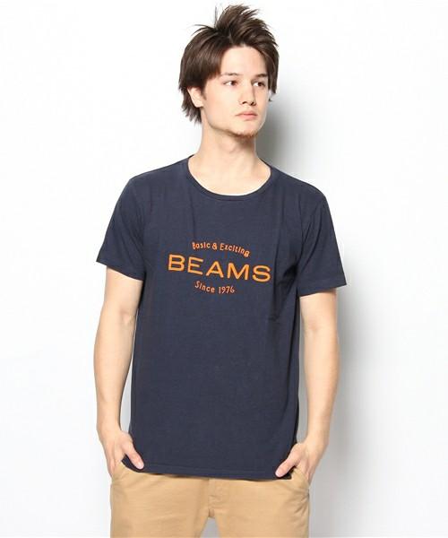BEAMS(ビームス)のBEAMS / BEAMS LOGO TEE(Tシャツ・カットソー)|ネイビー