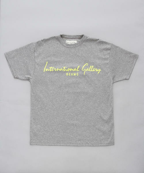 International Gallery BEAMS(インターナショナルギャラリー)のInternational Gallery BEAMS / NEON LOGO-T(Tシャツ・カットソー)|グレー