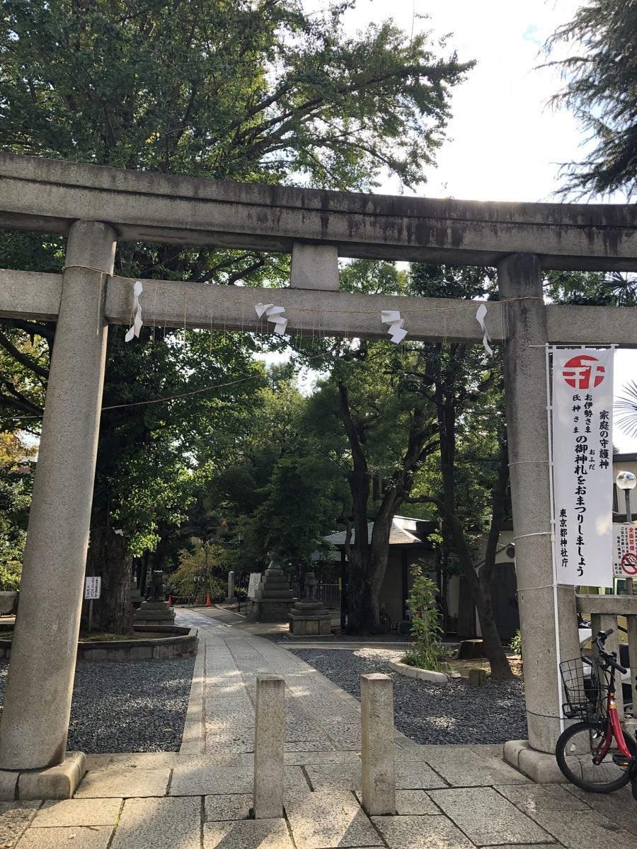 千駄ヶ谷駅からヨゴロウまでの行き方② 鳩の森神社を神社に沿って左折