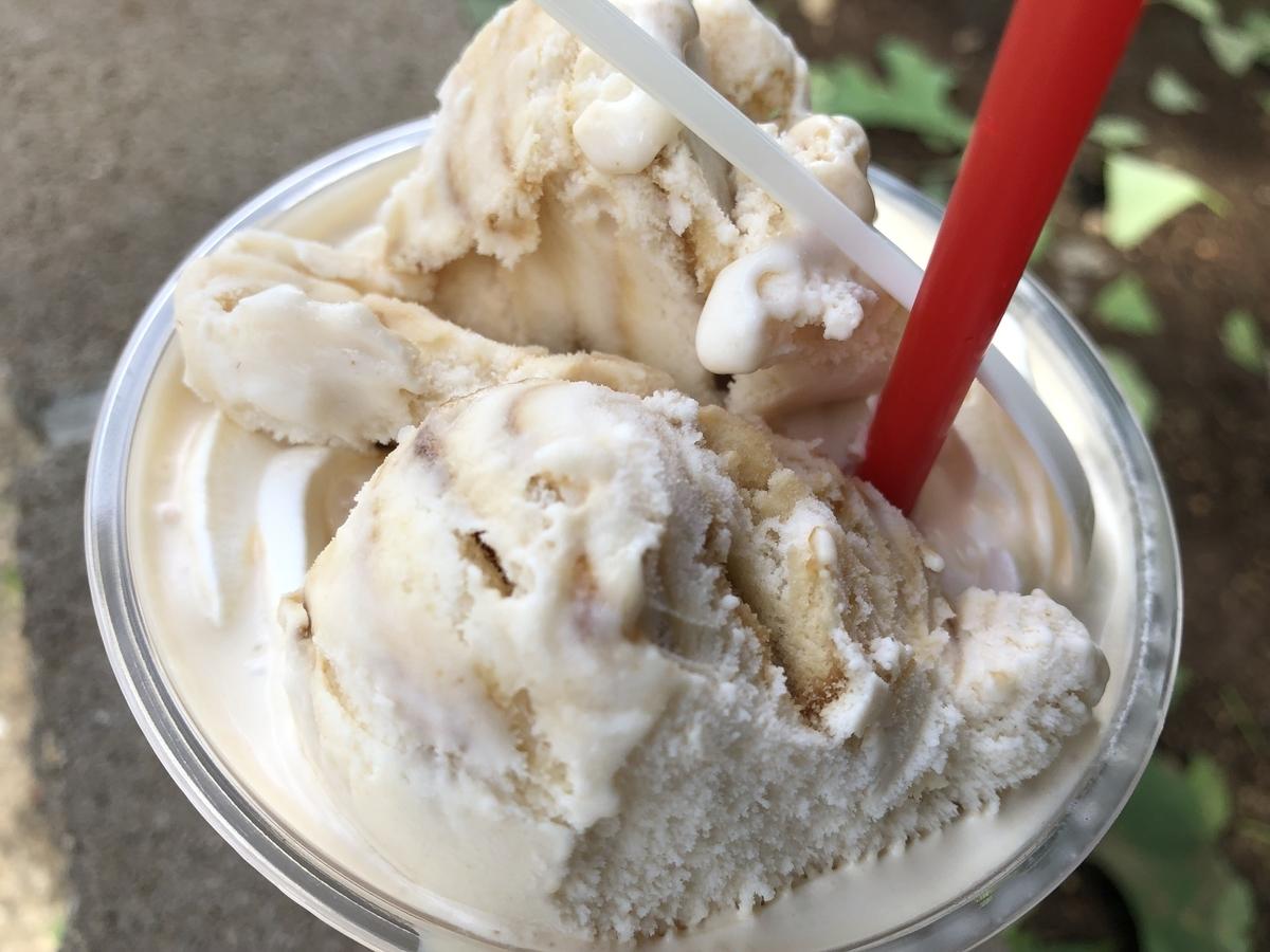 モンマスパフェ 黒蜜きなこアイス