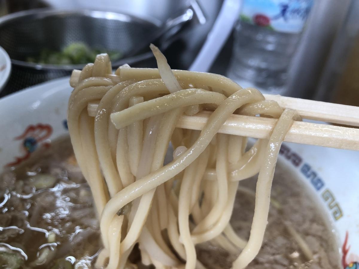 ホープ軒 背油豚骨醤油ラーメン 太麺