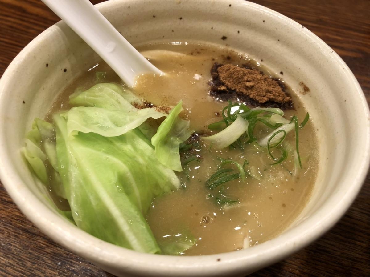麺宿 志いな つけそば スープ
