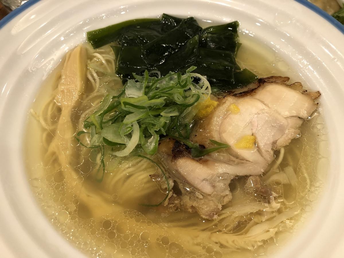 麺宿 志いな 潮そば 透き通るスープ